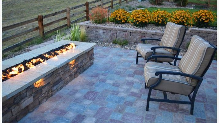 Arvada Landscape with Custom Fire Pit and Mountain Views by Matt Corrion, Outdoor Design Group