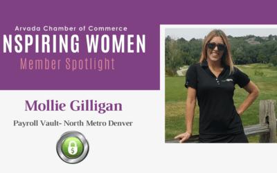 Inspiring Women Member Spotlight: Mollie Gilligan, Payroll Vault – North Metro Denver