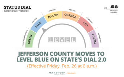 Jefferson County Moves to Level Blue  Effective Friday, February 26