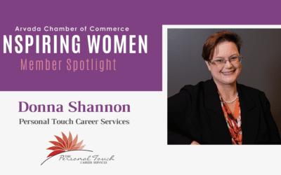 Inspiring Women Member Spotlight: Donna Shannon, Personal Touch Career Services