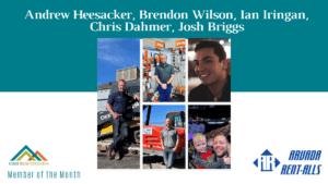 June AYP Member of the Month: Arvada Rent Alls (Andrew Heesacker, Brendon Wilson, Ian Iringan, Chris Dahmer, and Josh Briggs)