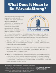 What Does it Mean to be #ArvadaStrong?