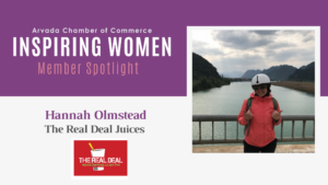 Inspiring Women Member Spotlight: Hannah Olmstead, The Real Deal Juices