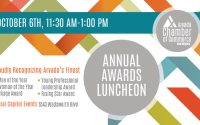 Arvada Chamber Announces Winners to be Recognized at 70th Annual Awards Luncheon