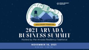 Arvada Resiliency Taskforce to Host 2021 Business Summit with Focus on Emergency Preparedness, Mental Health